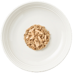 Isolated aerial image of Reveal sardine cat food with mackerel on plate