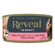 Tuna Fillet with Salmon in Gravy Can - 2.47oz